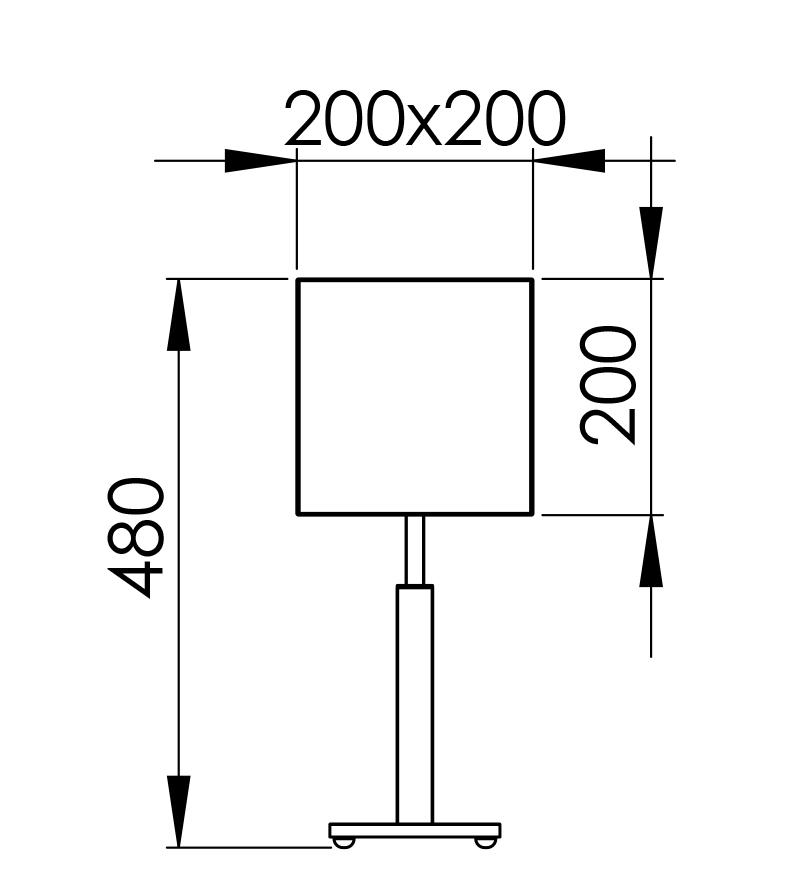 Abmessungen QUADRO M 48