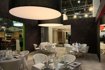 Messestand Beleuchtung Joi Design Hogatec - Essen