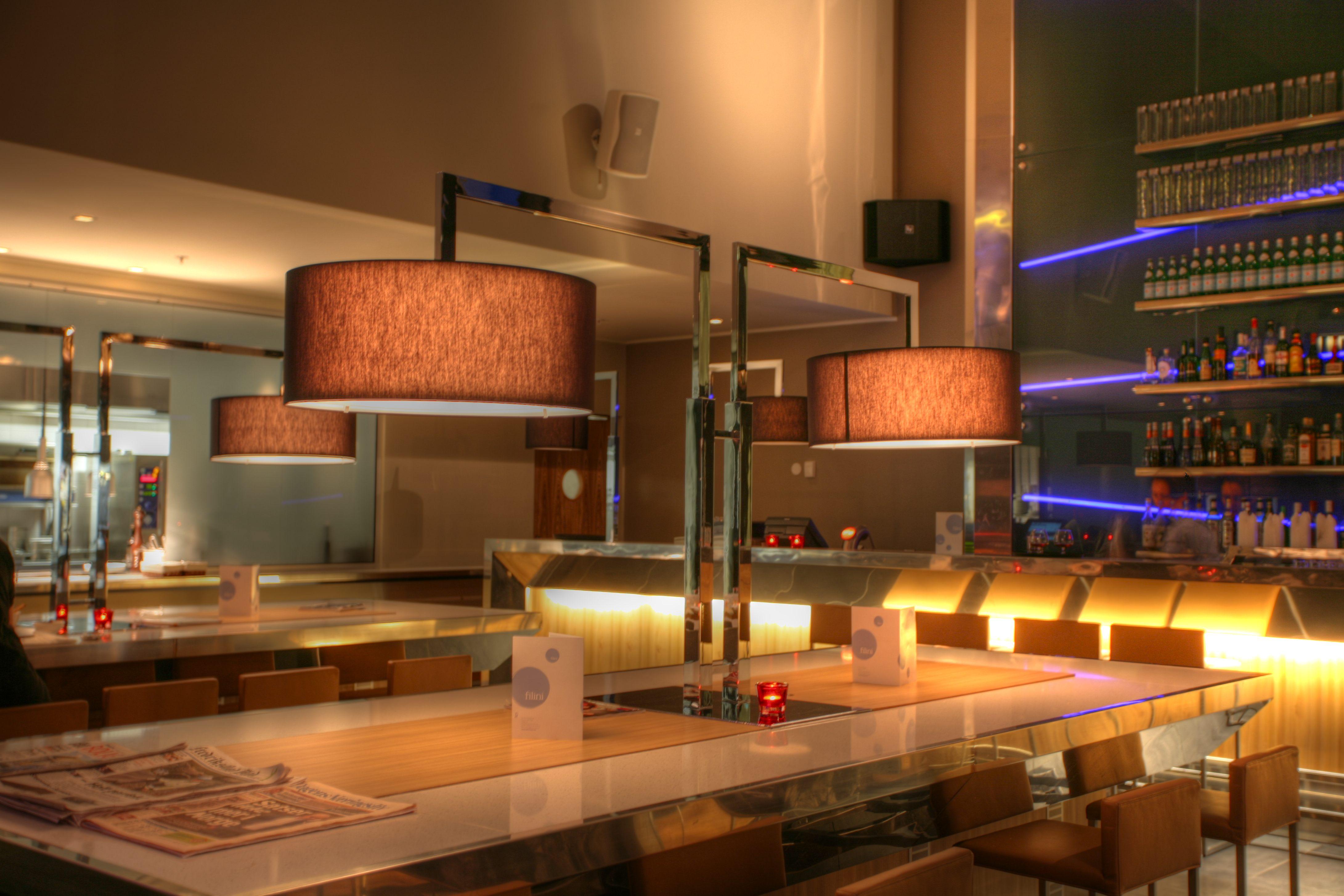 leuchten gastronomie radisson blue fredrikstad peters leuchten design