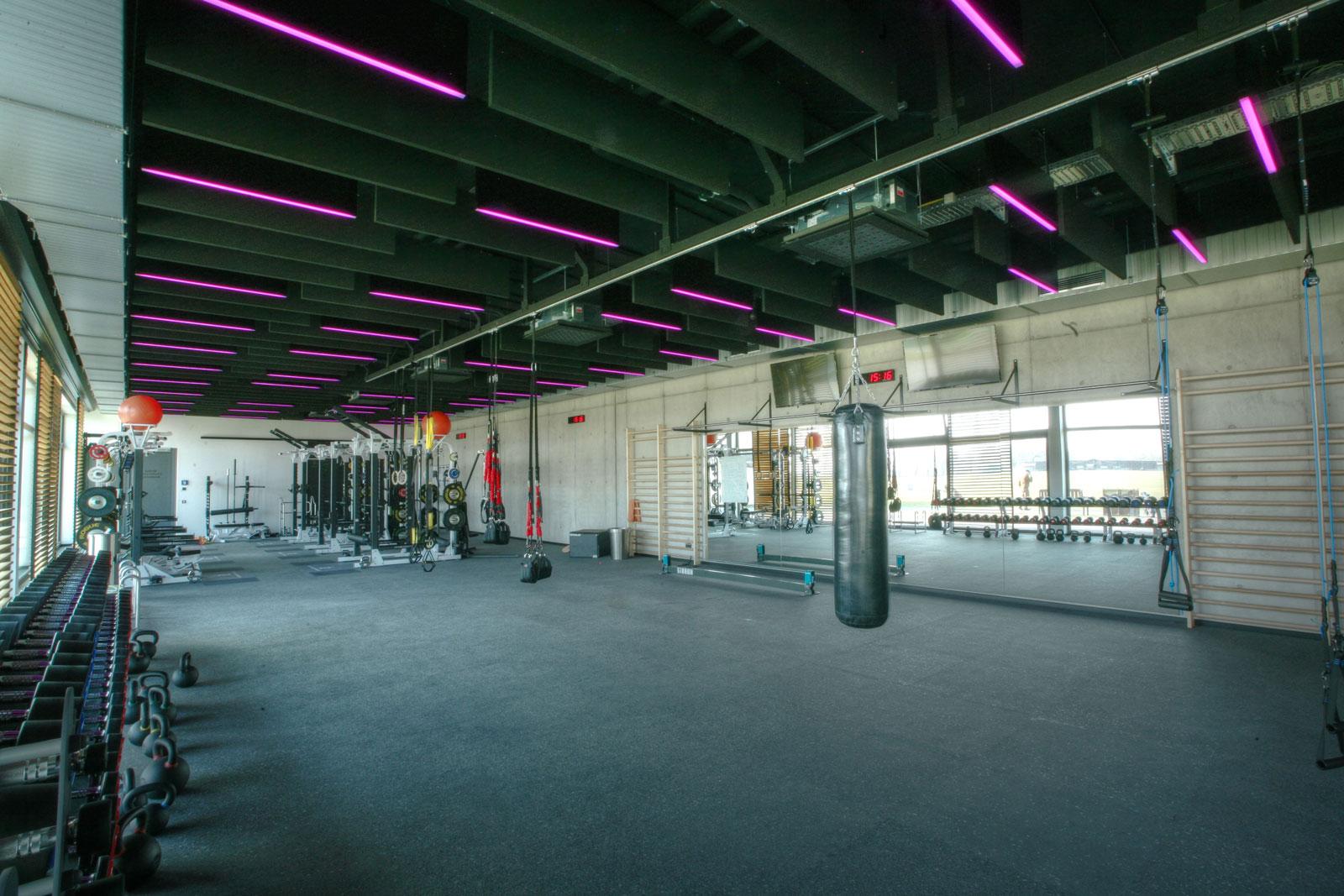 Beleuchtung Fitnessstudio Athletikgebäude St. Leon-Rot