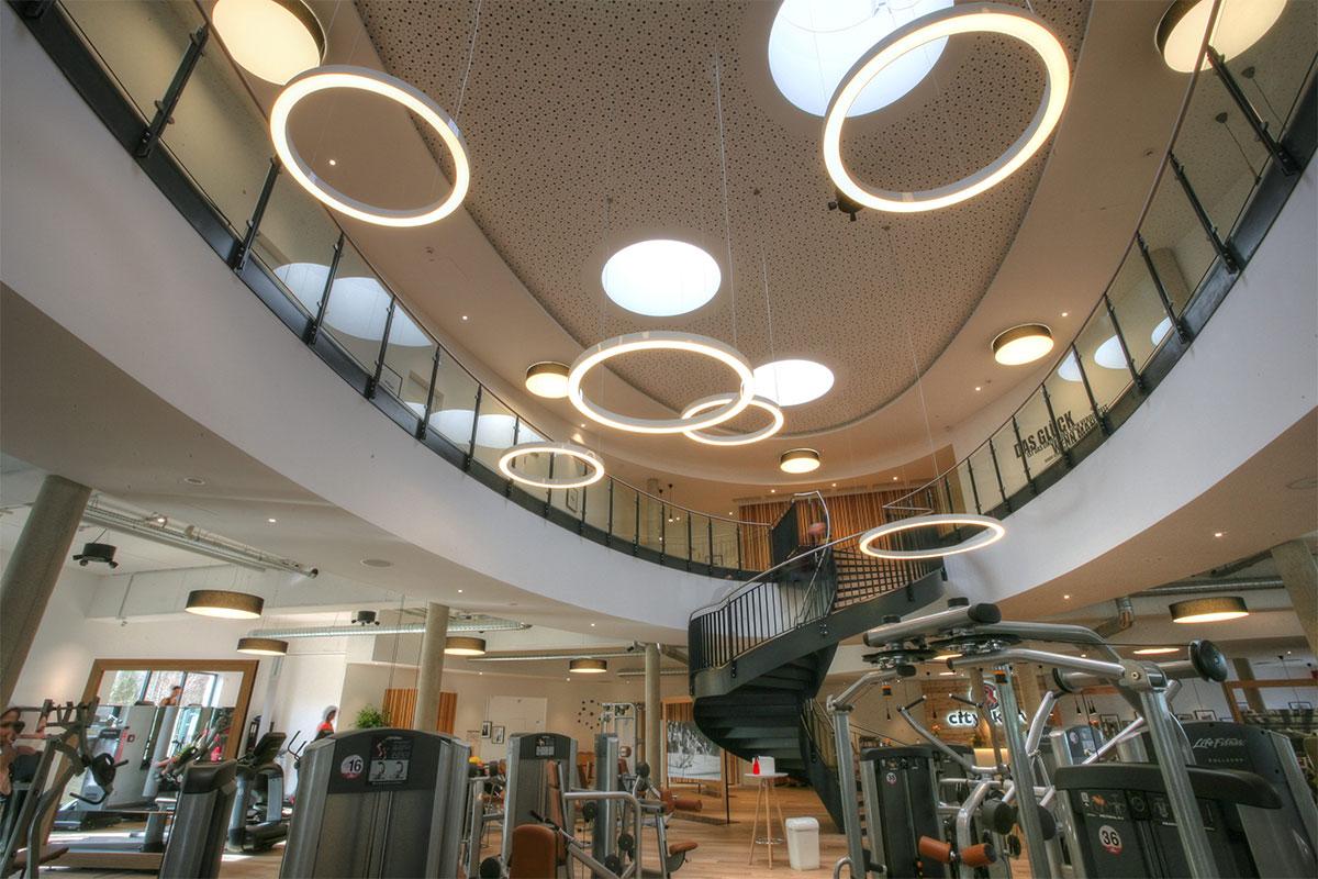 Referenz der Fitnessstudio Beleuchtung cityaktiv in Erlangen