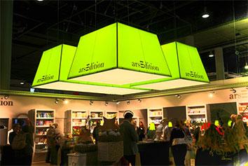 Messestand Beleuchtung von Ars-Edition auf der Buchmesse in Frankfurt